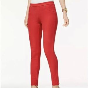 MICHAEL MICHAEL KORS TRUE RED  STRETCH LEGGINGS